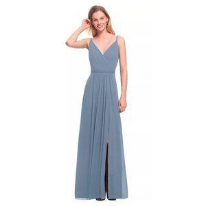 NWT Bill Levkoff 7021 Surplice Drape Chiffon Gown